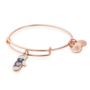 Alex and Ani Charity Mitten Adjustable Wire Bangle